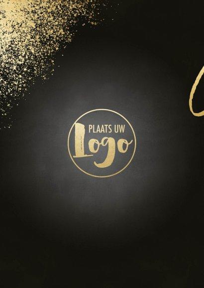 Uitnodiging nieuwjaarsborrel gouden spetters cheers & foto's 2