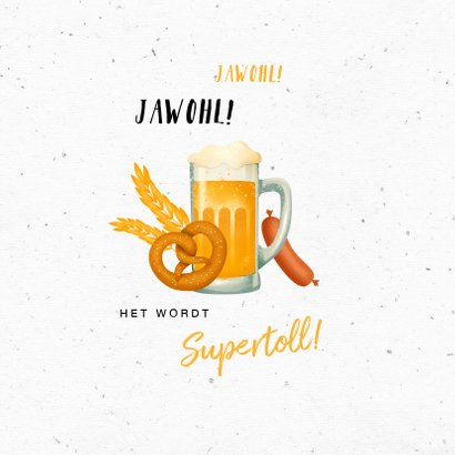 Uitnodiging Oktoberfest bier worst duits 2