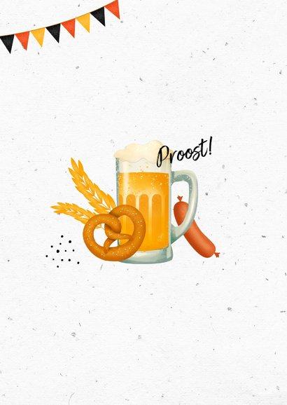Uitnodiging oktoberfest wegwijzers slingers bier worst 2