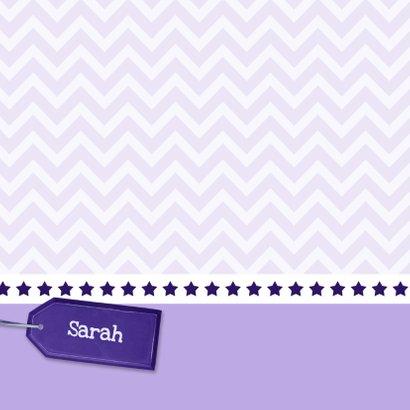 Uitnodiging paars en karton - BK 2