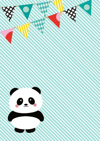 Uitnodiging panda babyshower 2