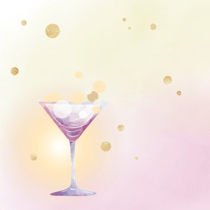 Uitnodiging Party - goud 2