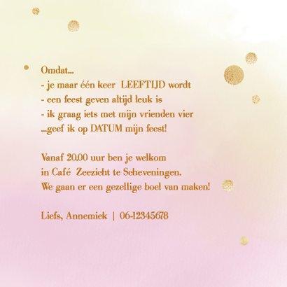 Uitnodiging Party - goud 3