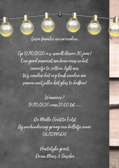 Uitnodiging party hout en foto 3