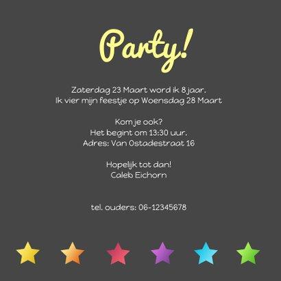 Uitnodiging party sterren hip 3