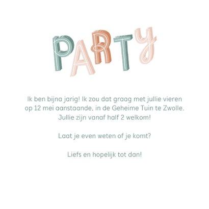 Uitnodiging pastel party met confetti  3
