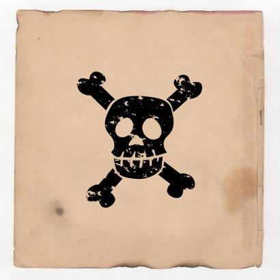 Uitnodiging piraten feestje Foto Achterkant