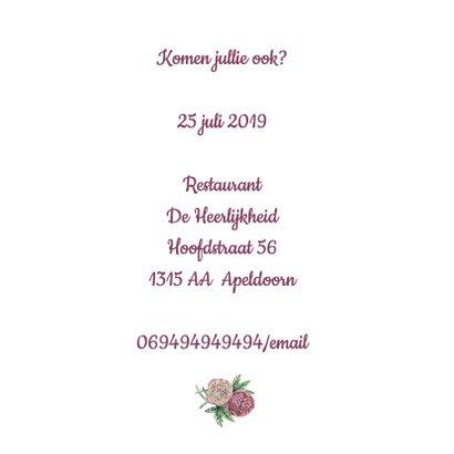 Uitnodiging ranonkel jubileum 3