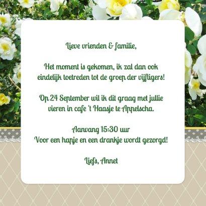 Uitnodiging rozen 50 met foto 3