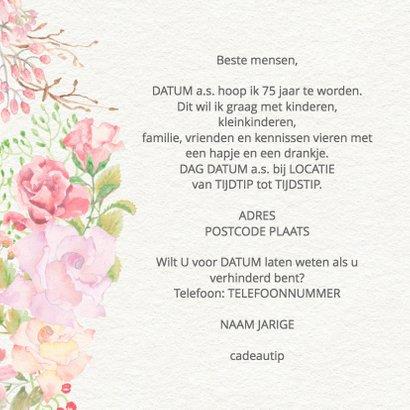 Uitnodiging rozen en vlinders 3