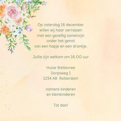 Uitnodiging rozen in pastel met foto 3