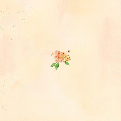 Uitnodiging rozen in pastel met foto Achterkant