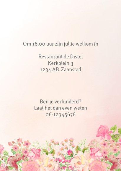 Uitnodiging rozen vrouw verjaardag 3