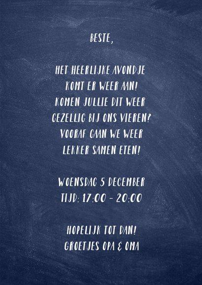 Uitnodiging Sinterklaas kaart pakjesavond typografisch 3