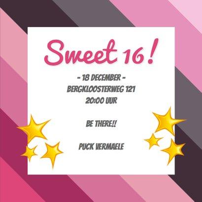 Uitnodiging Sweet 16 ster 3