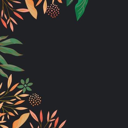 Uitnodiging takken en bladeren met stipjes 2