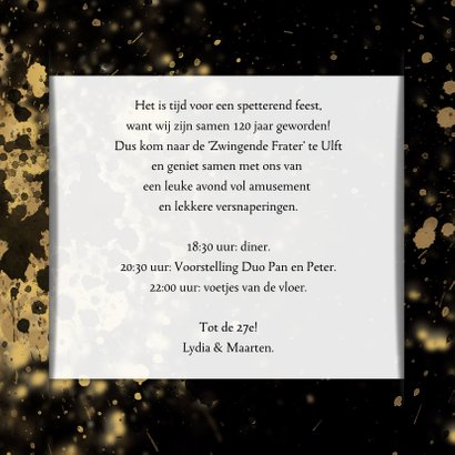 Uitnodiging Tijd voor een Feest 3