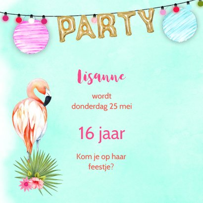 Uitnodiging tropical party 2