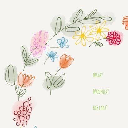 Uitnodiging Tuin Bloemen 2