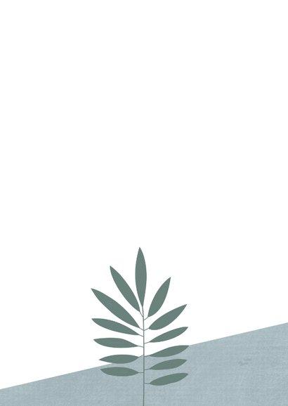 Uitnodiging tuinfeest, 30ste verjaardag, bladeren Achterkant