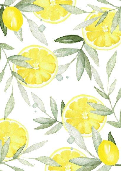 Uitnodiging tuinfeest citroen 2