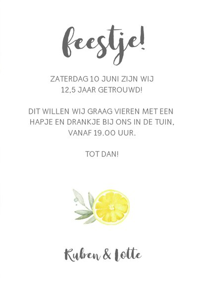 Uitnodiging tuinfeest citroen 3