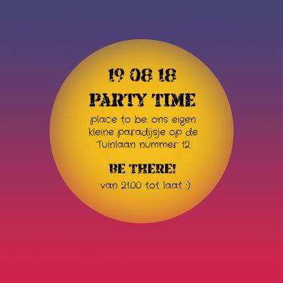 Uitnodiging Tuinfeest nacht 3