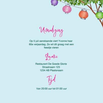 Uitnodiging tuinfeestje met BBQ in vrolijke kleuren  3