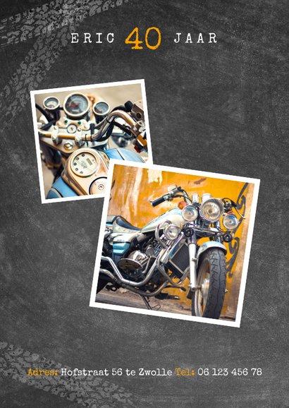 Uitnodiging verjaardag 40 jaar motor, let's party en foto's 2