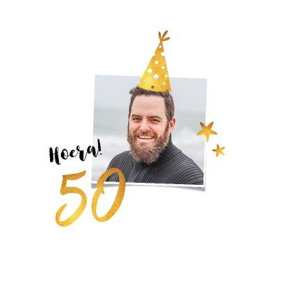 Uitnodiging verjaardag confetti 50 jaar 2