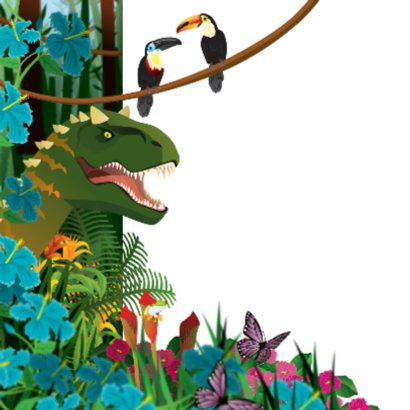 uitnodiging  verjaardag dinosaurus jongenskaart 2