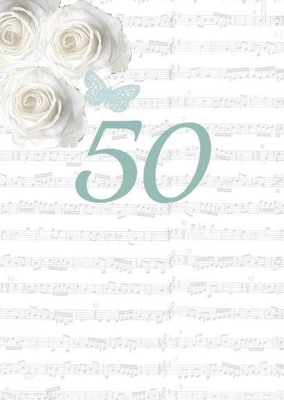 Uitnodiging verjaardag fotolijstjes rozen vrouw 2