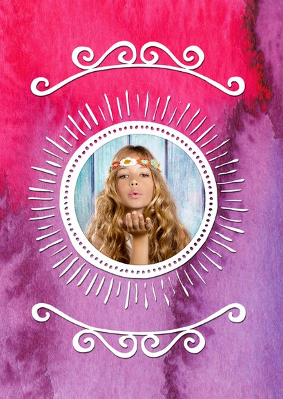 Uitnodiging verjaardag inkt pink - OT 2