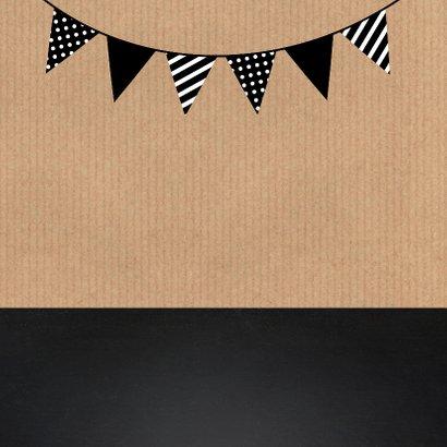 Uitnodiging verjaardag kraft krijtbord slinger 2
