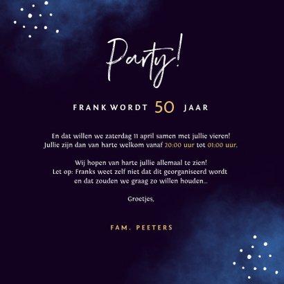 Uitnodiging verjaardag man neon confetti 50 jaar 3