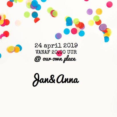 Uitnodiging verjaardag party 2