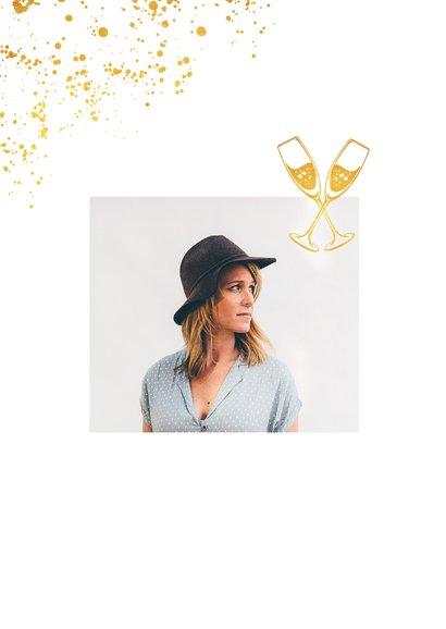 Uitnodiging verjaardag stijlvol met goud 2