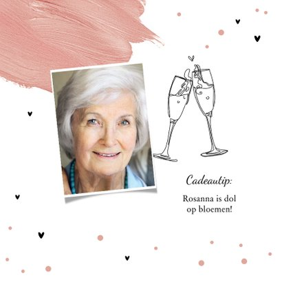 Uitnodiging verjaardagsfeest 80 jaar vrouw verf hartjes 2