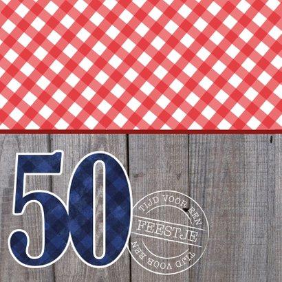 Uitnodiging verjaardagsfeest man 50 foto stoer 2