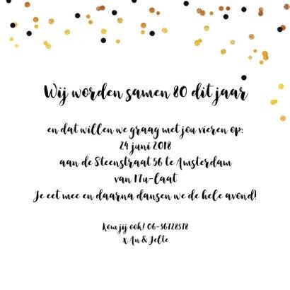 Uitnodiging verjaardagsfeest samen of alleen 3
