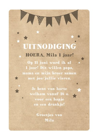 Uitnodiging verjaardagsfeestje 1 jaar poesje 3