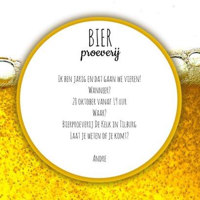 Uitnodiging voor bierproeverij 3