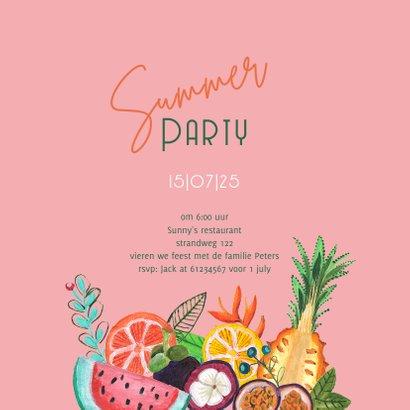 Uitnodiging voor een tropisch zomer feest 3
