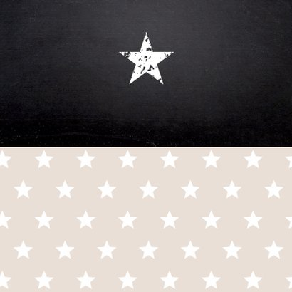 uitnodiging vormsel sterren beige foto meisje 2