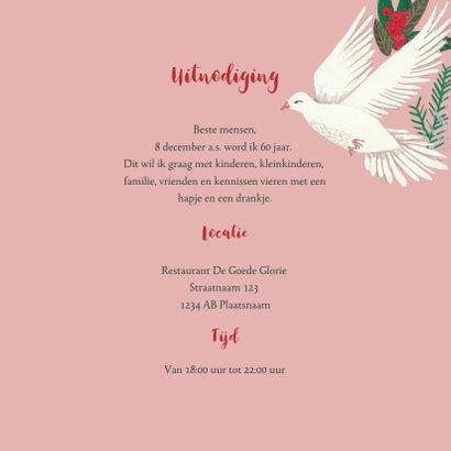 Uitnodiging winter bloemen en duiven 3