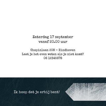 Uitnodiging zestig, modern met handgeschreven tekst 3
