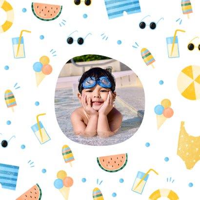 Uitnodiging zomer zwemfeestje tropisch 2