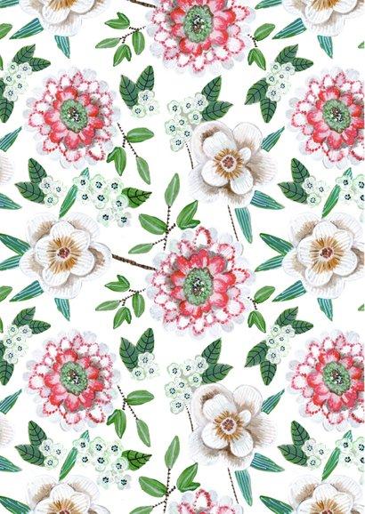 Uitnodiging zomerfeest botanisch bloemen grijs 2