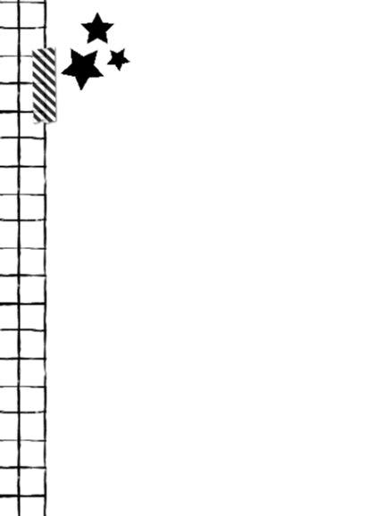Uitnodiging Zwart Wit Grid 2