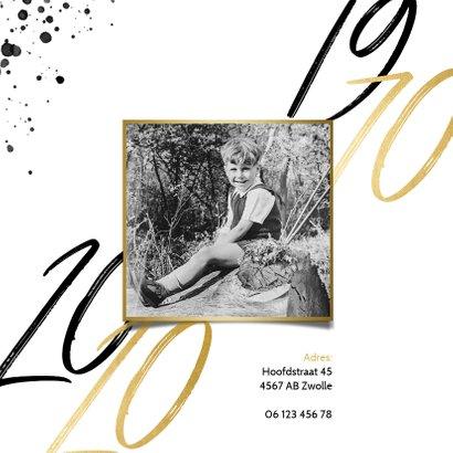 Uitnodigingskaart verjaardag 50 zwarte spetters & jaartallen 2